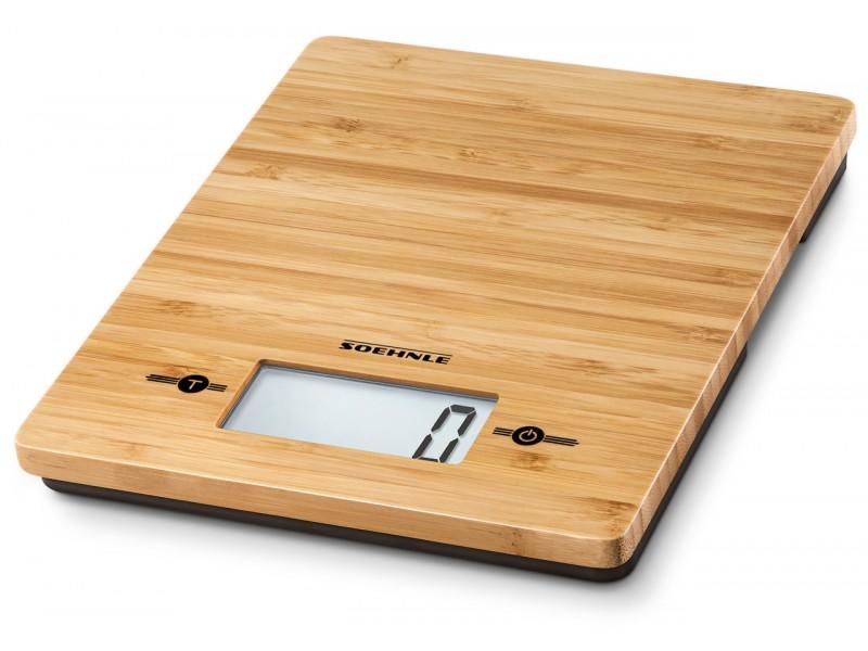 Cantar digital de bucatarie Soehnle Page Evolution, 5kg, 1 gr, BAMBUS